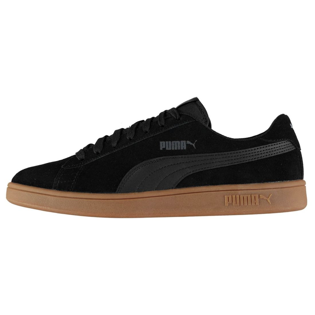 384601efcc0 Puma Mens Smash V2 Suede Trainers Lace Up Padded Ankle Collar Everyday Tonal