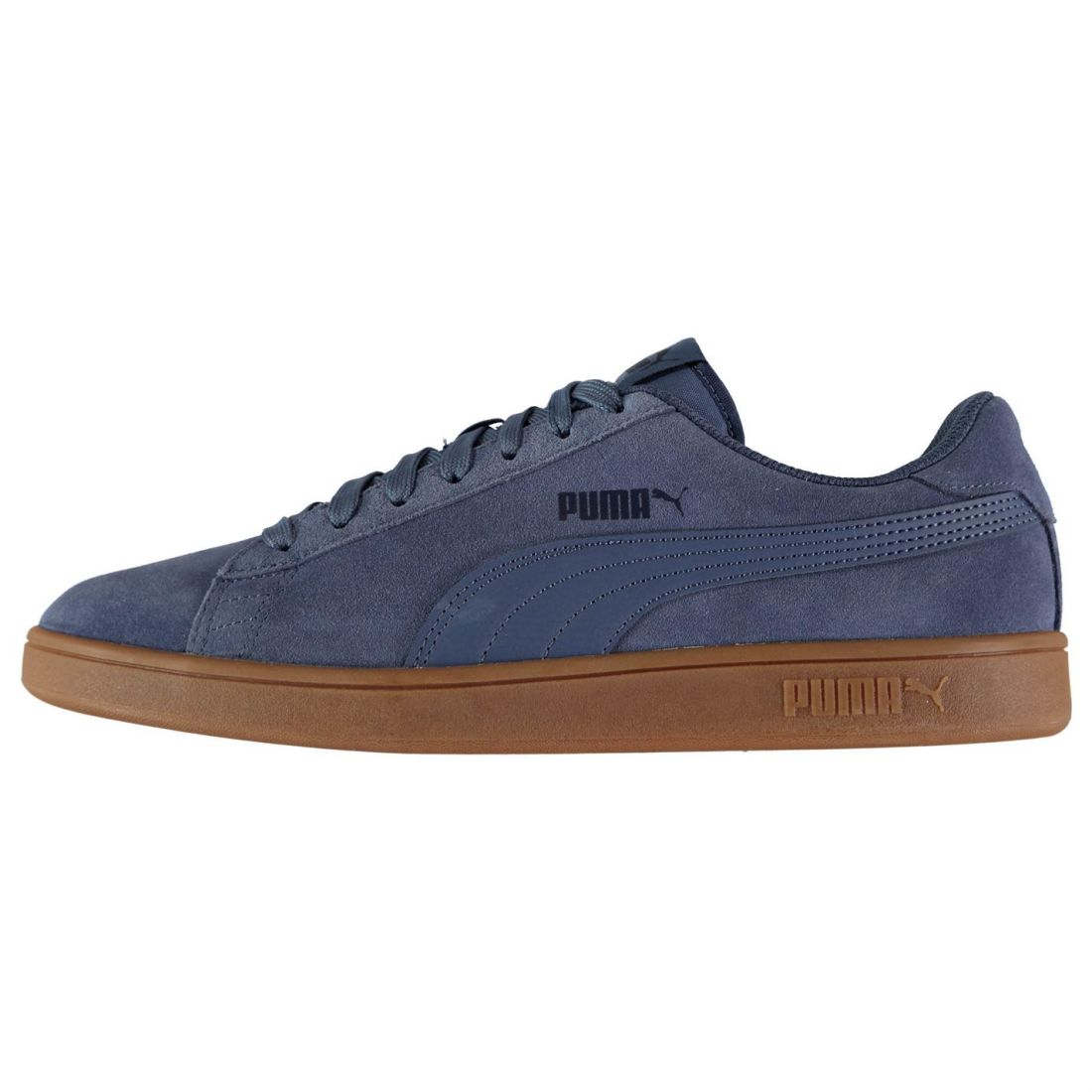 Puma Mens Smash V2 Suede Trainers Lace Up Padded Ankle Collar Everyday Tonal b86091773