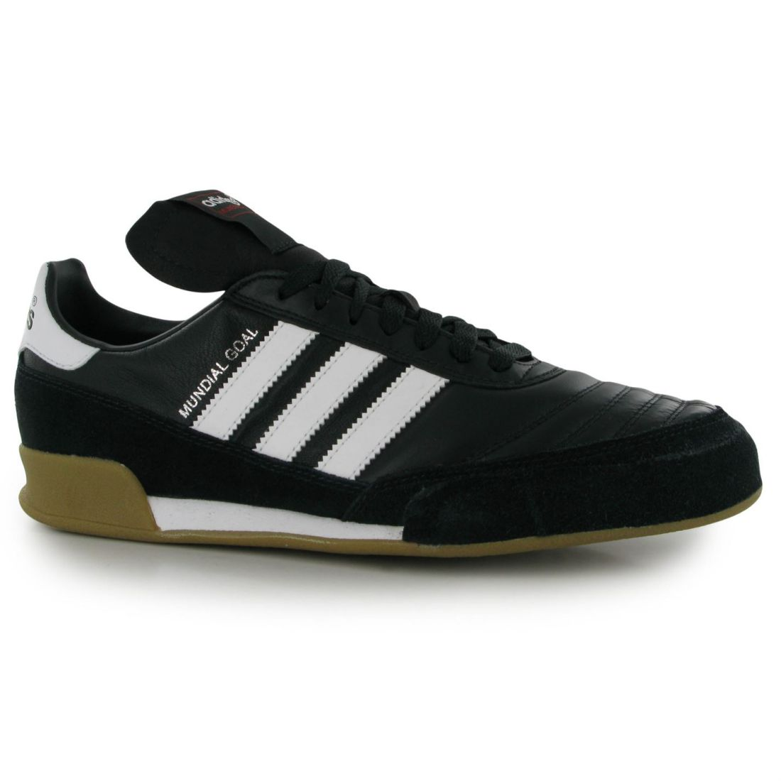 Adidas Mens Mundial Goal Indoor Football Trainers Stiefel Lace Up Leather Upper