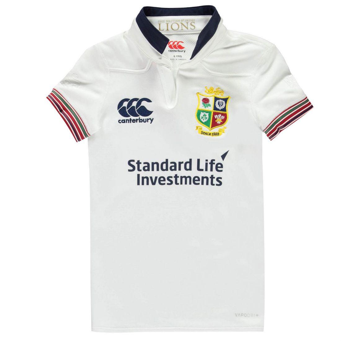 Details about Canterbury Kids British And Irish Lions Training Top Junior  Shirt Short Sleeve