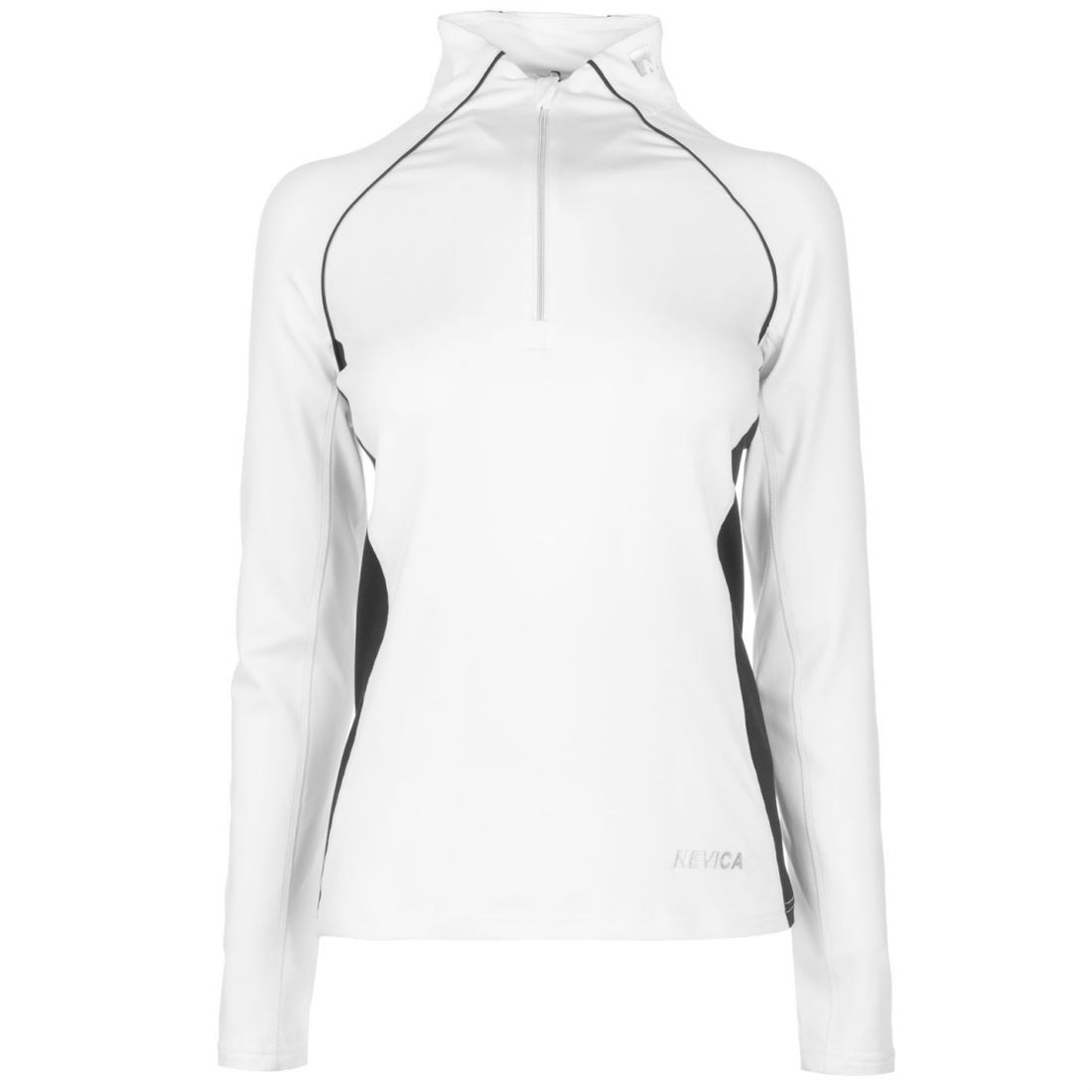 33edd4a4d5 Details about Nevica Womens Vail Quarter Zip Top Baselayer Compression  Armor Thermal Skins