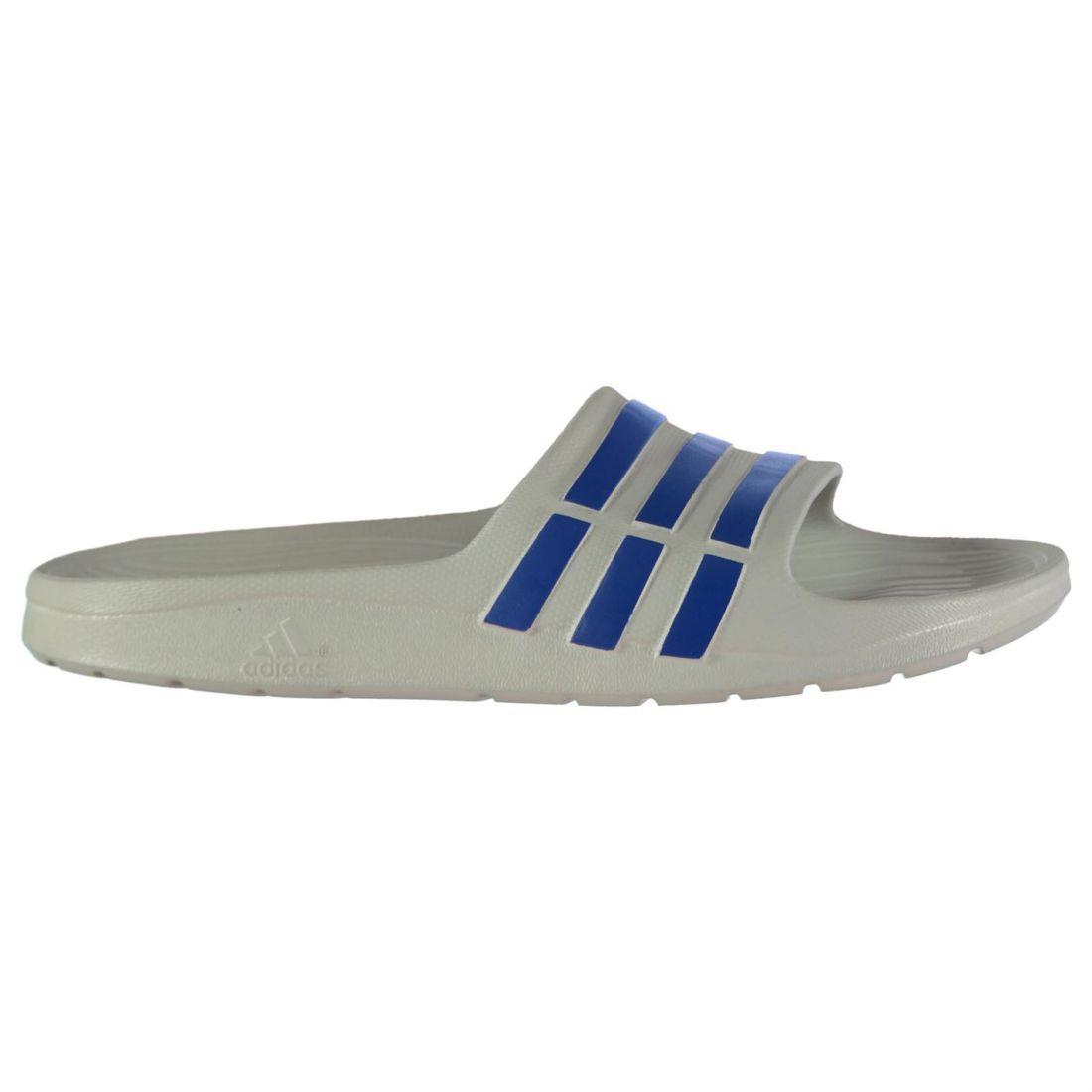 on sale ea0be f0d98 Image is loading adidas-Kids-Boys-Duramo-Slide-Pool-Shoes-Slip-