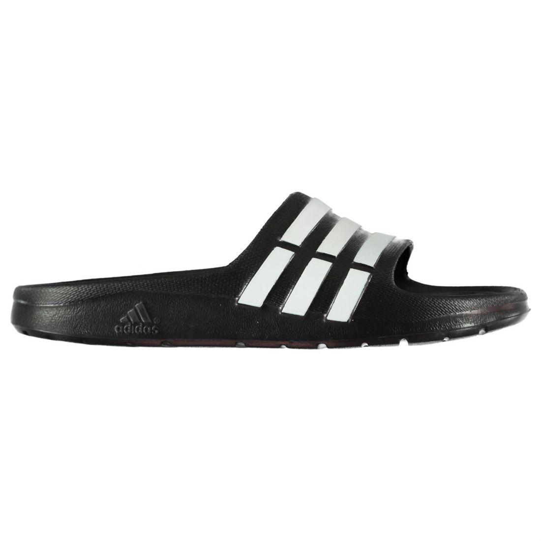 best website 98028 34bd9 adidas Kids Boys Duramo Slide Pool Shoes Slip On Forefoot Strap Lightweight