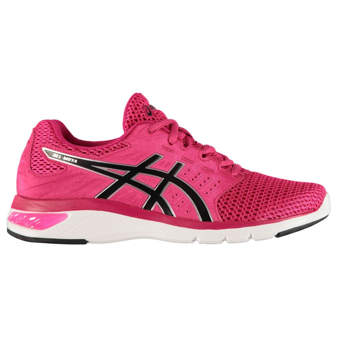 Asics Womens Gel Moya Running Shoes Road Lace Up Breathable Lightweight Mesh c8a0384998