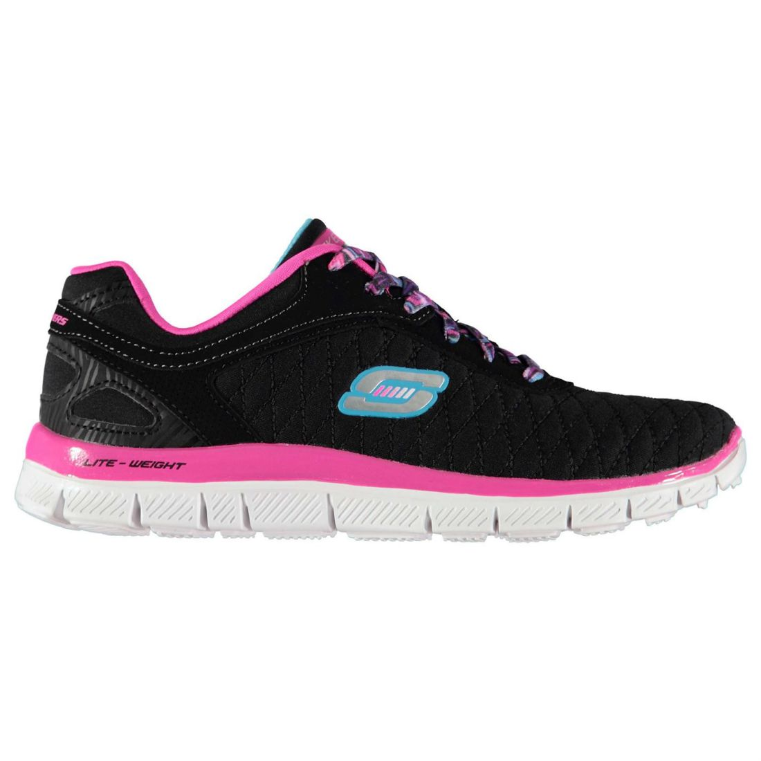 Details about Skechers Kids Girls Flex Appeal Trainers Runners Lace Up  Lightweight Comfortable 6d902d34e9