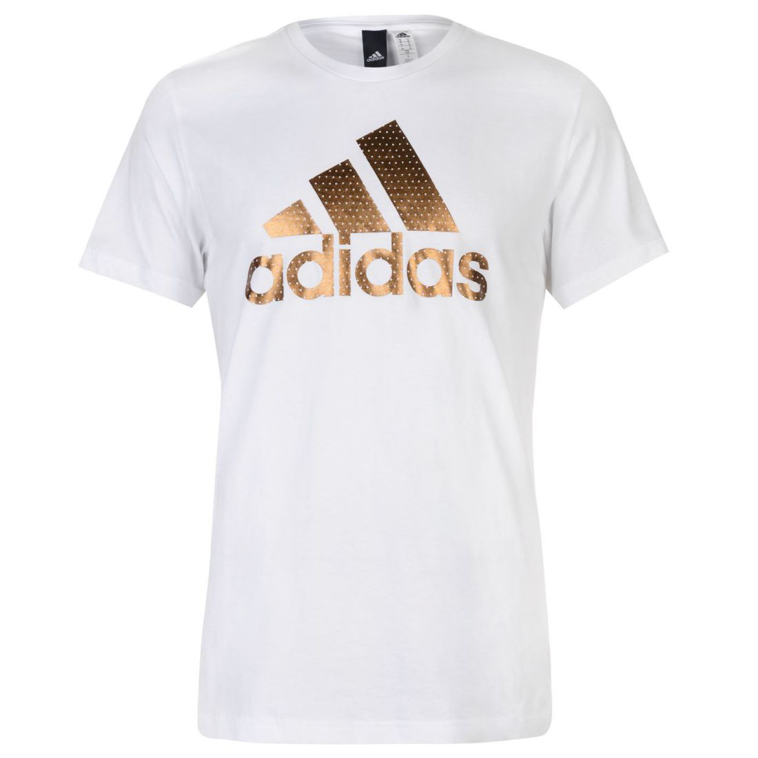 5c112a3dcf3 adidas Foil Logo T Shirt Mens Gents Crew Neck Tee Top Short Sleeve ...