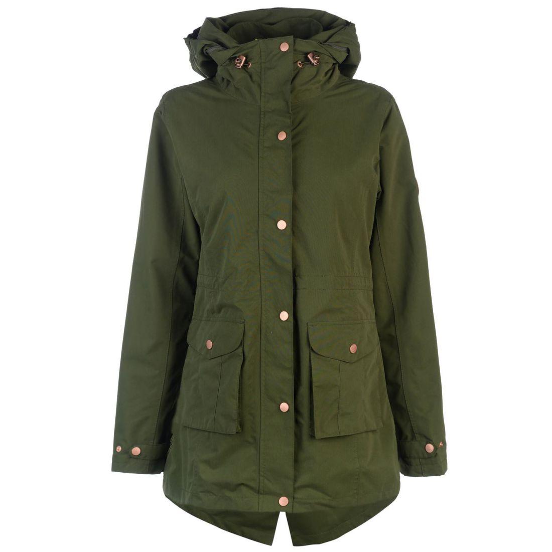 5cd2289be520 Gelert Heritage Jacket Ladies Water Repellent Coat Top Hooded Zip ...