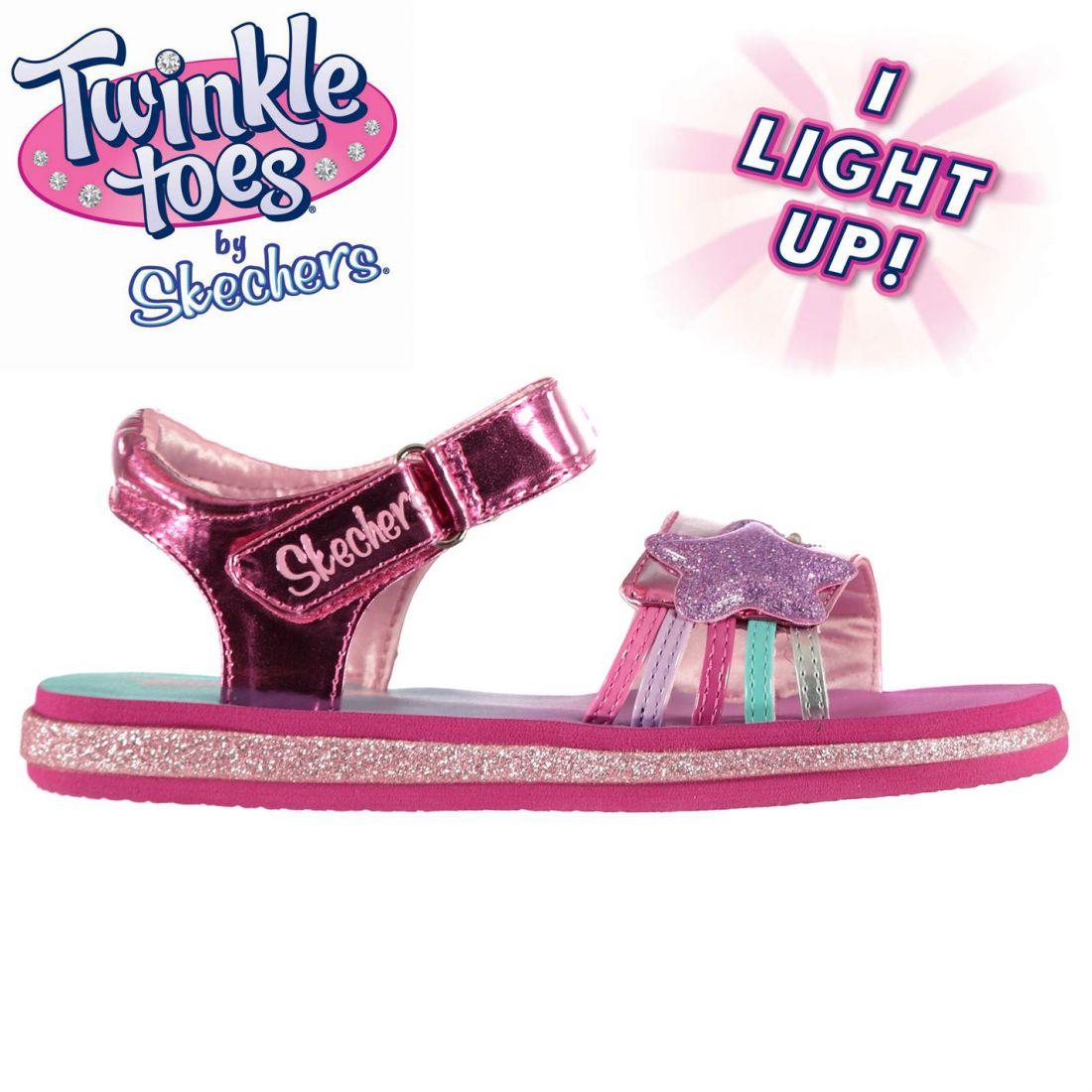 Skechers Kids Girls Twinkle Toes Sunnies Child Sandals