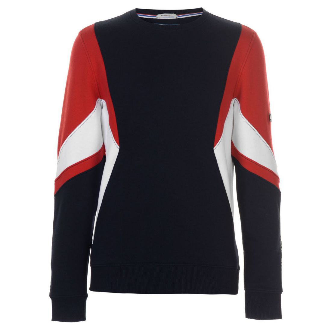 11aa9e0d0a4 Image is loading Mens-Tommy-Jeans-Colour-Block-Sweatshirt-Crew-Sweater-