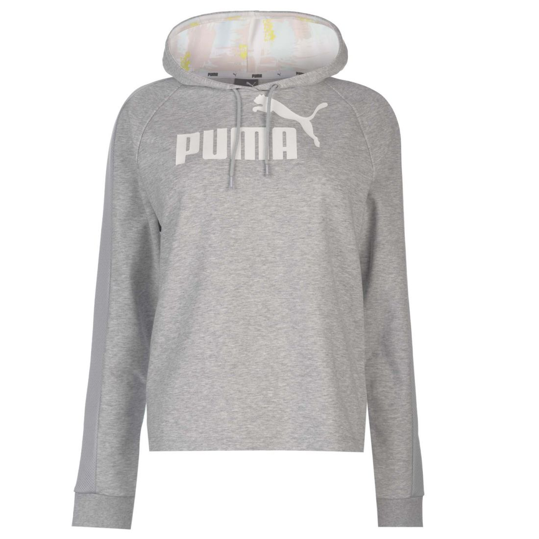 30e5454fde74b9 Details about Puma Womens OTH Crop Hoody Hoodie Hooded Top Lightweight Mesh  Print