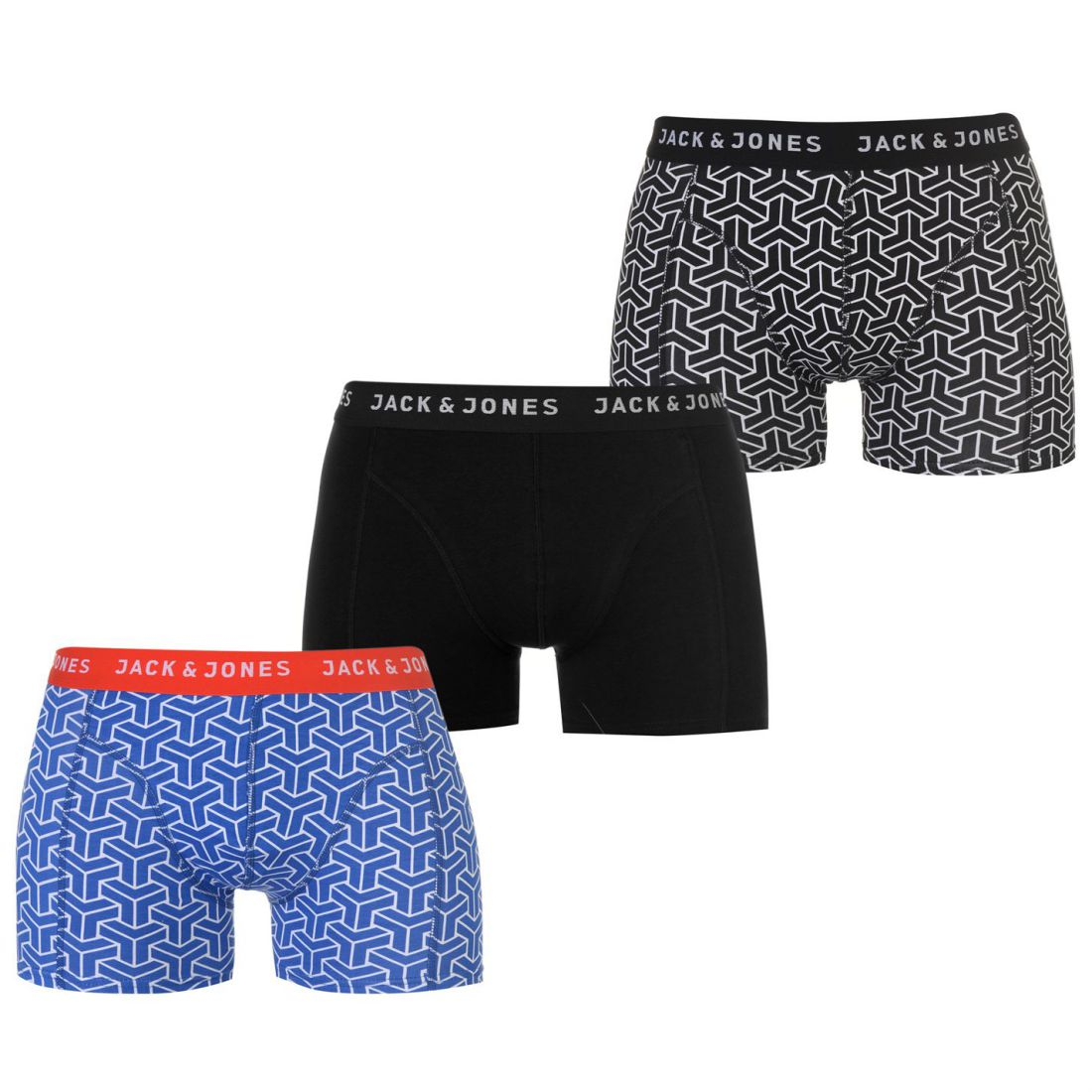 87ab26578f Jack and Jones Irvine 3 Pack Trunks Mens Gents Underclothes ...