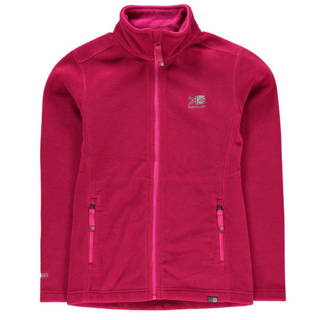 458e65193db1 Karrimor Kids Fleece Jacket Junior Girls Thermal Warm Up High Neck ...