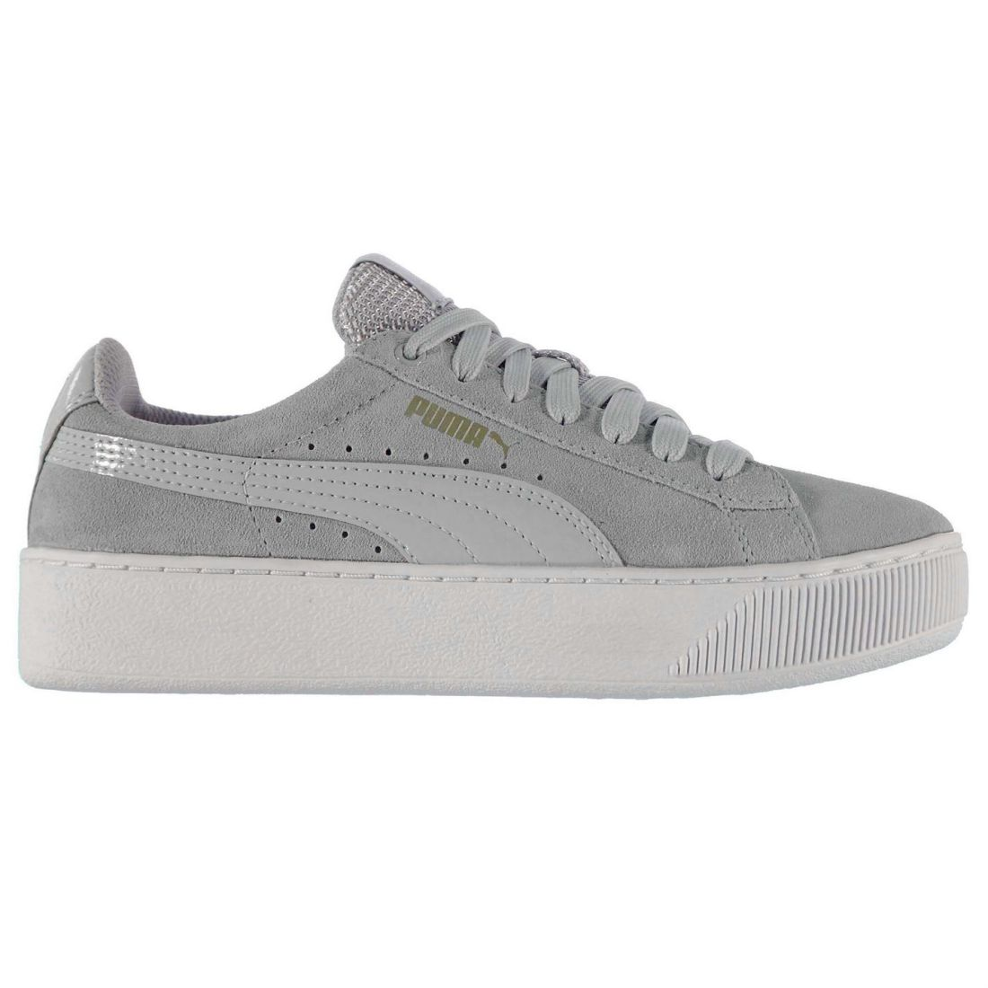 Image is loading Puma-Ladies-Vikky-Platform-Trainers-Shoes-Laces-Fastened- bd16c314f6