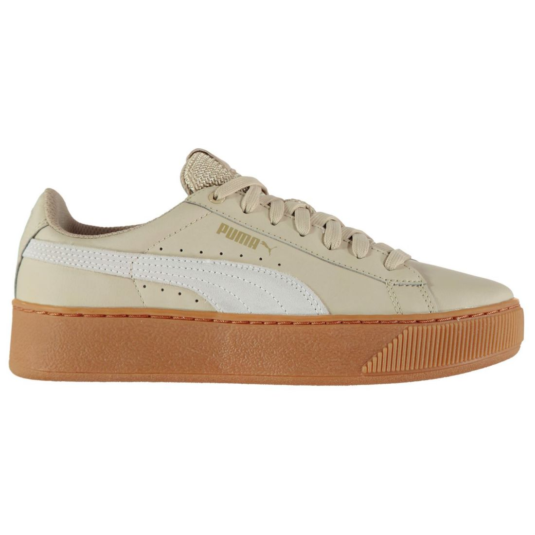 6ee92c788bd5 Puma Ladies Vikky Platform Trainers Shoes Laces Fastened Footwear
