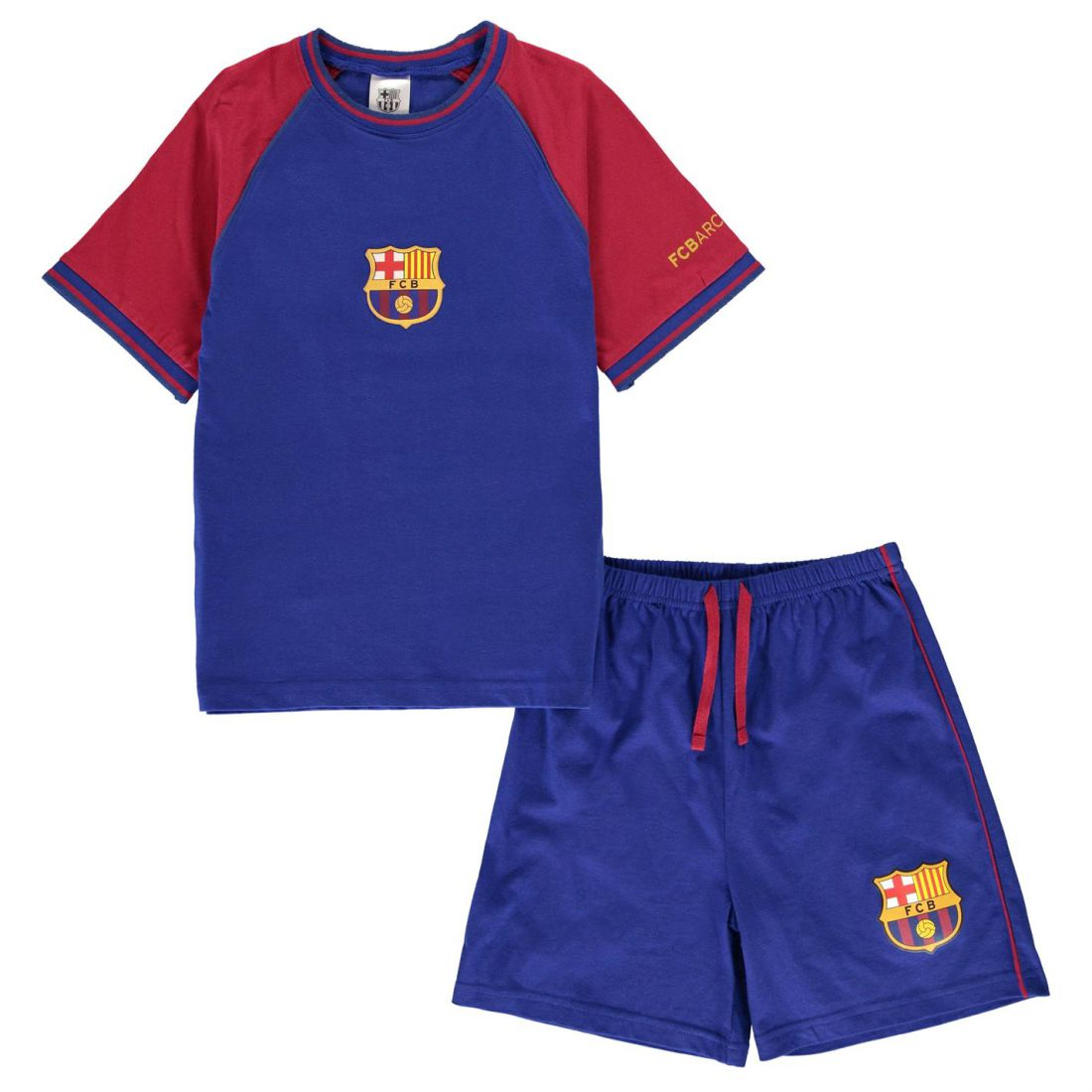 Image is loading Team-Kit-Pyjama-Set-Childrens-Boys-Short-Sleeve- 66ef276a1
