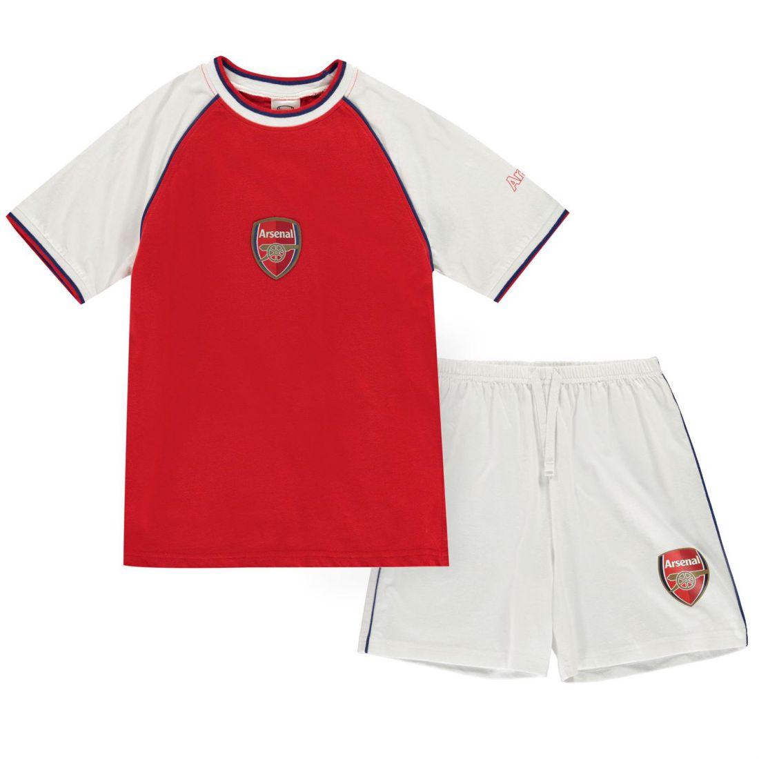 1 sur 4 Team Kit Pyjama Set Childrens Boys Short Sleeve Crew Neck Lightweight  Cotton 9f6d165e0