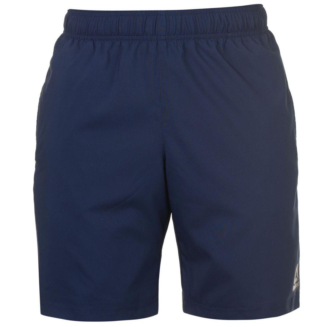 2dee19310ca2 Reebok Mens Workout Shorts Poly Pants Trousers Bottoms Lightweight ...