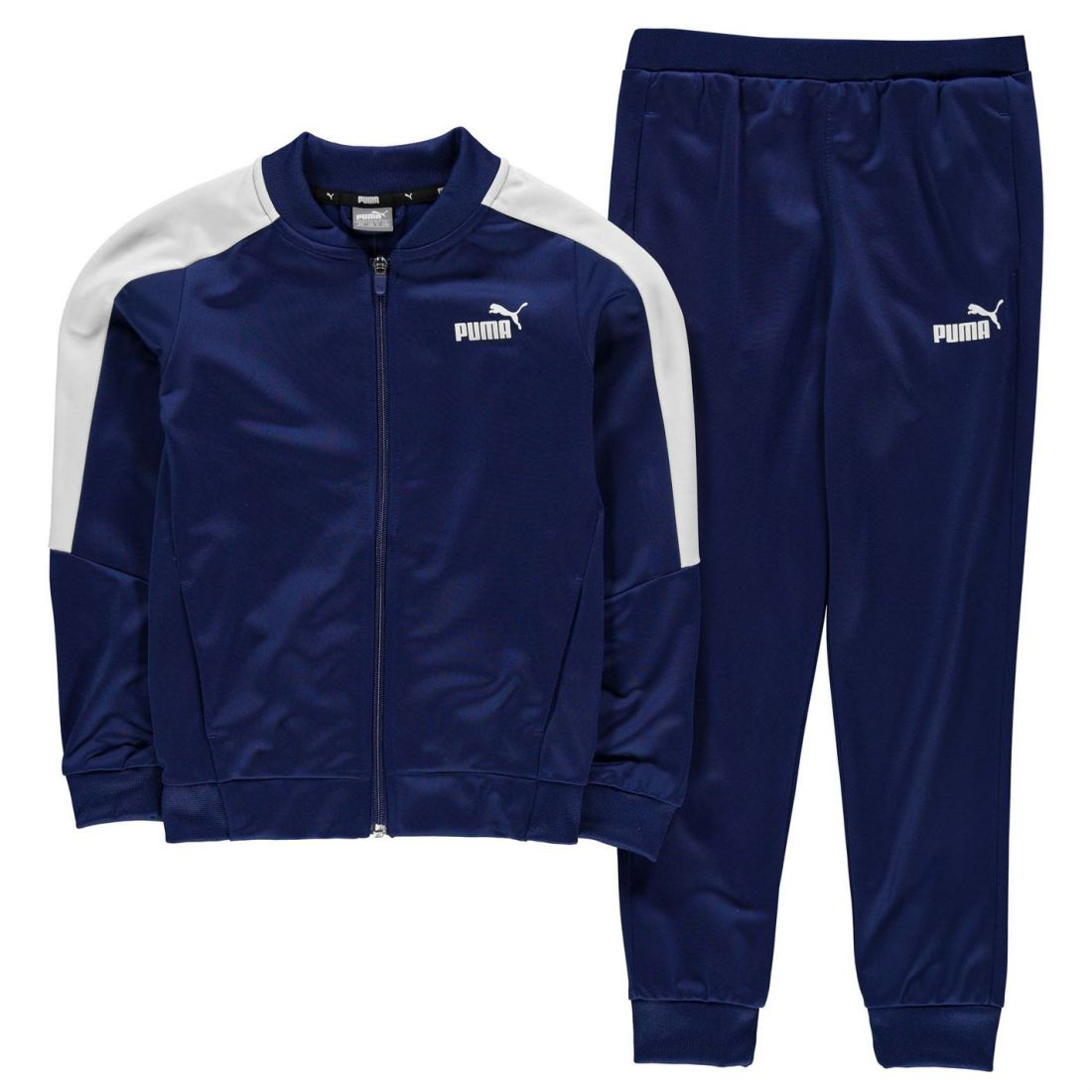 a0f41a5c46e7 Image is loading Puma-Kids-Boys-BB-Polyester-Tracksuit-Junior-Poly-