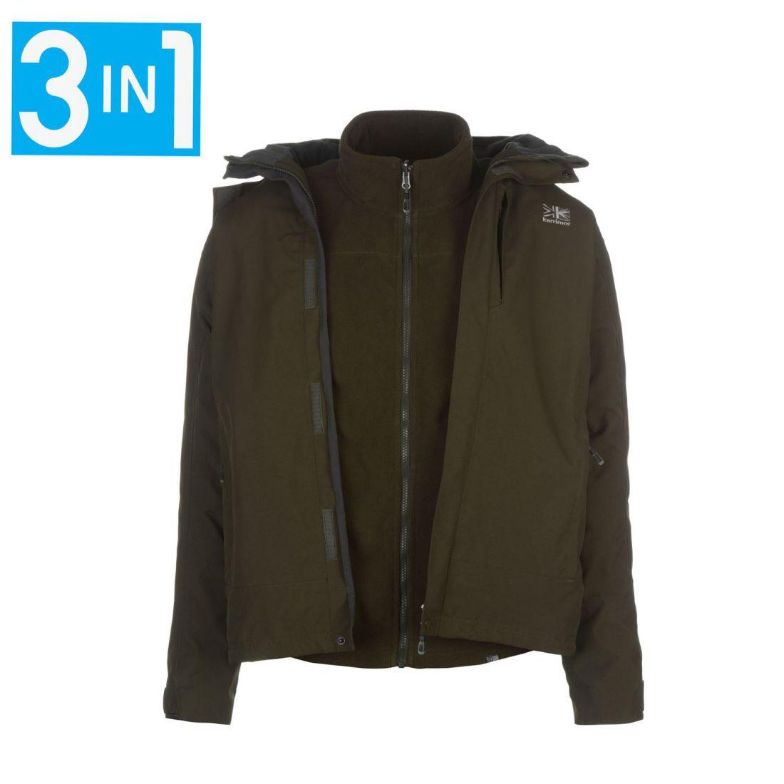 313d170c9881 Karrimor Mens 3in1 Jacket Mesh Lining Concealable Hood Water ...