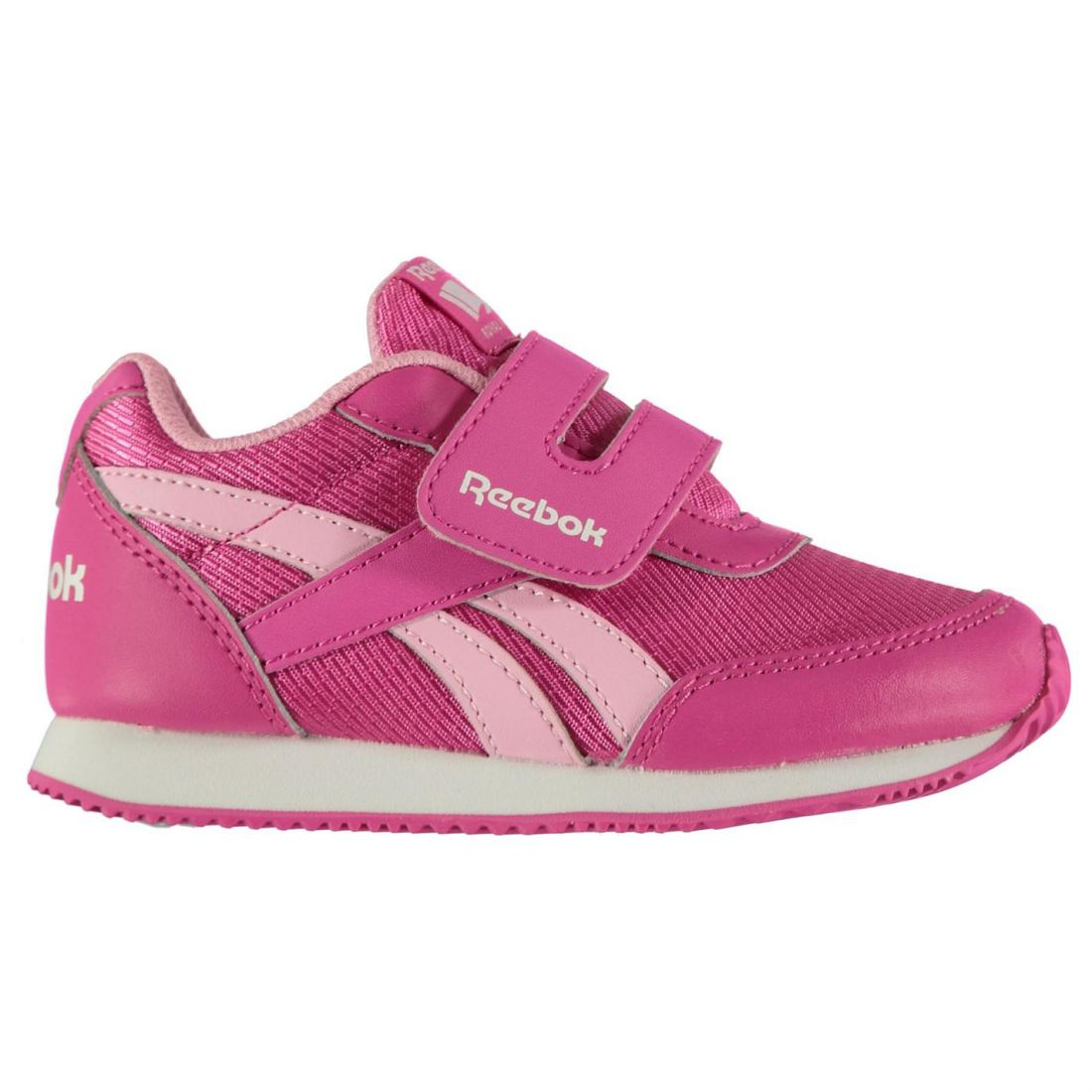 3a50289daf88 Details about Reebok Girls Classic Jogger RS Baby Trainers Shoes Footwear  Padded Ankle Collar