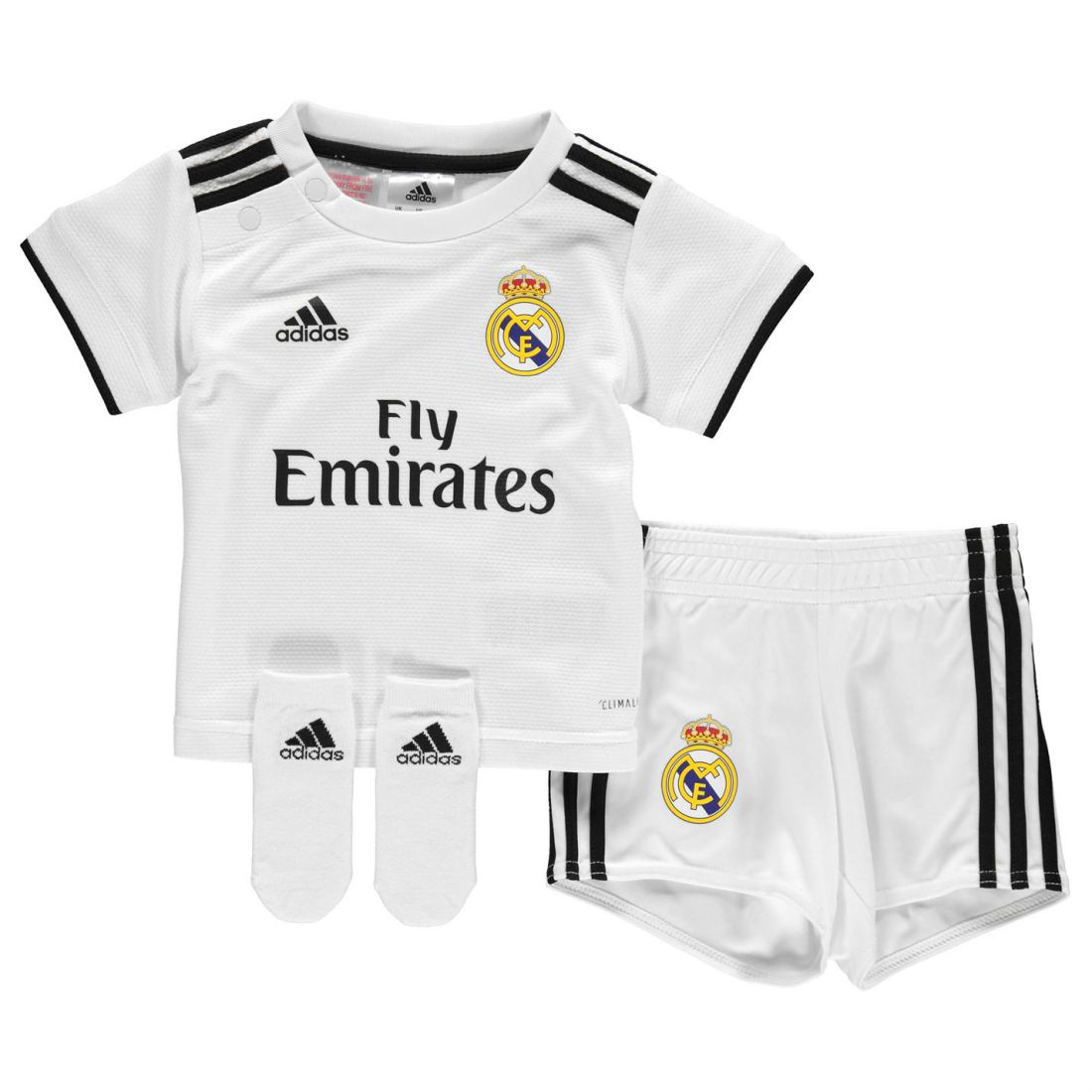 13a9ffeee00 adidas Kids Boys Real Madrid Home Baby Kit 2018 2019 Domestic ...