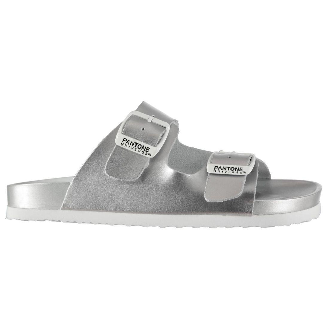 Pantone Womens Formentera Sliders Flat Sandals Buckle Fastening Strap ddba16462