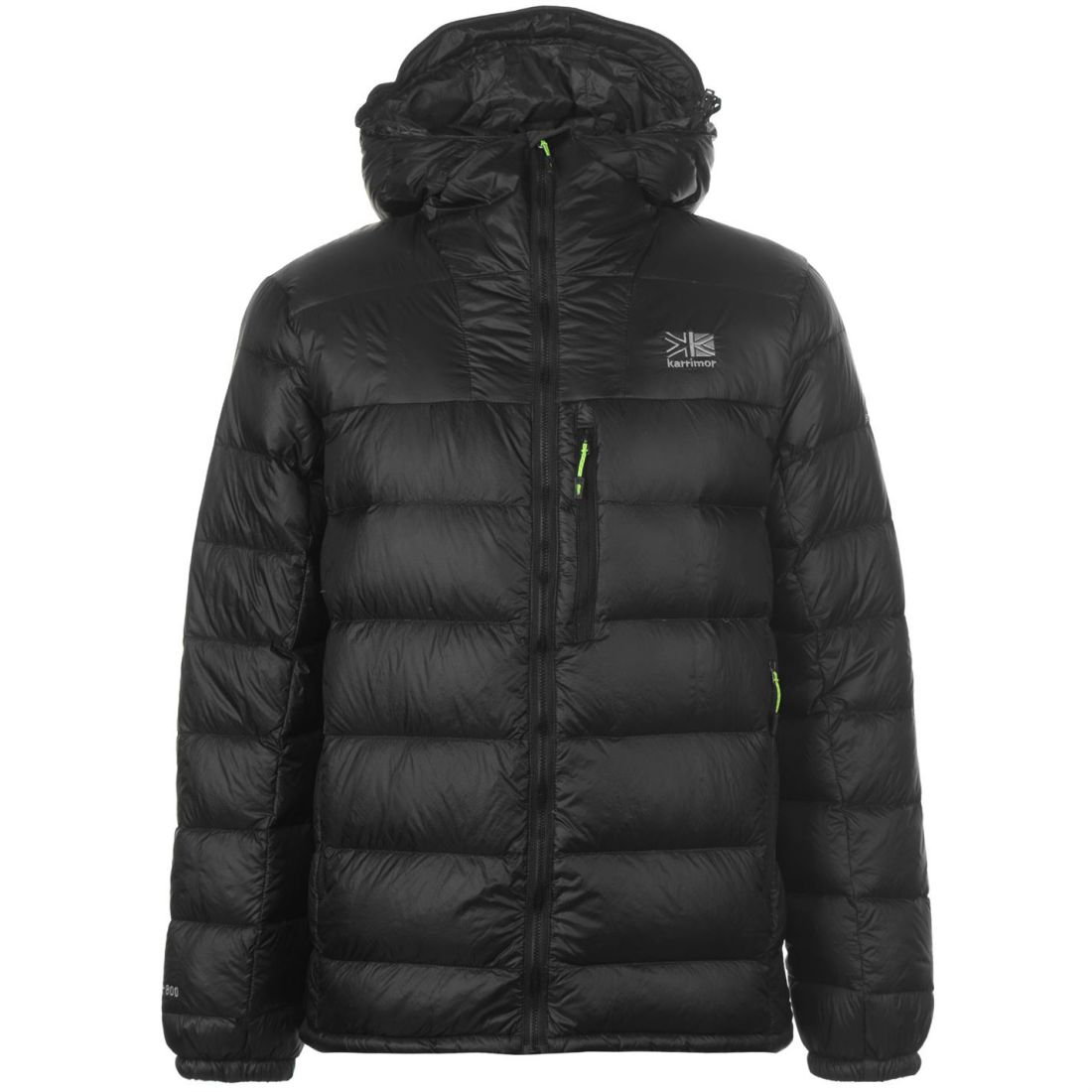 f3d58105b Details about Karrimor Sub Zero Down Jacket Mens Gents Puffer Coat Top Chin  Guard Hooded Zip