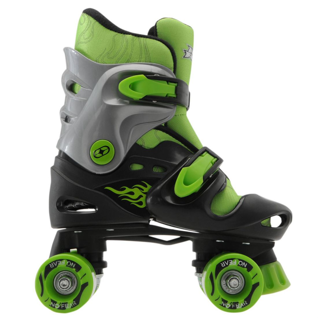 No Fear Kids Quad Skates Boys Skate Shoes Rollers Wheeled Black ... 50cb9b04a