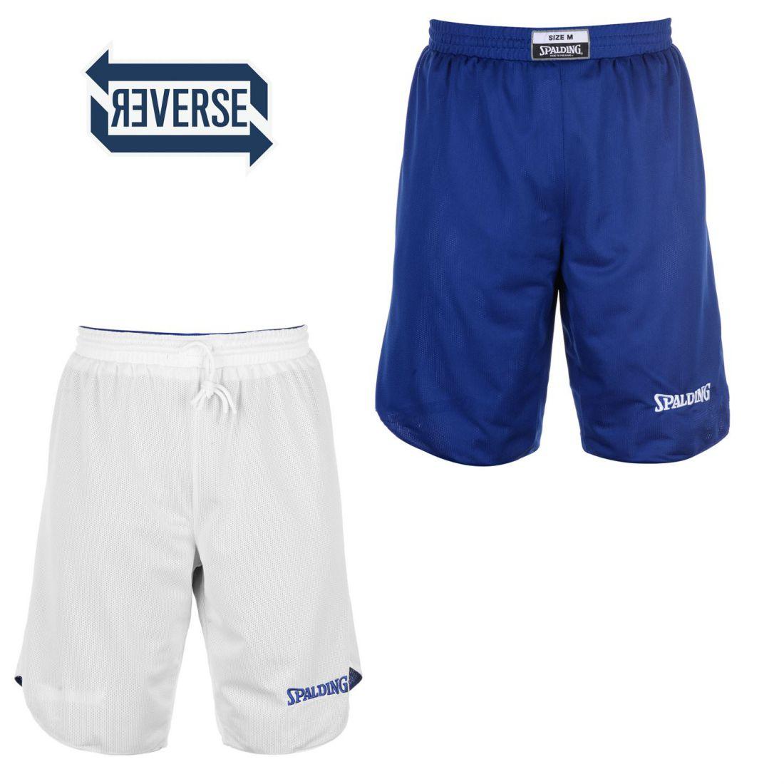 0b71a1245e31 Spalding Mens Reversible Basketball Shorts Pants Trousers Bottoms ...