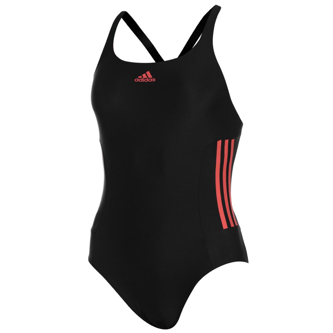 9db42b4727327 Image is loading adidas-Womens-Infinitex -Fitness-Eco-Swimsuit-Stripe-Chlorine-