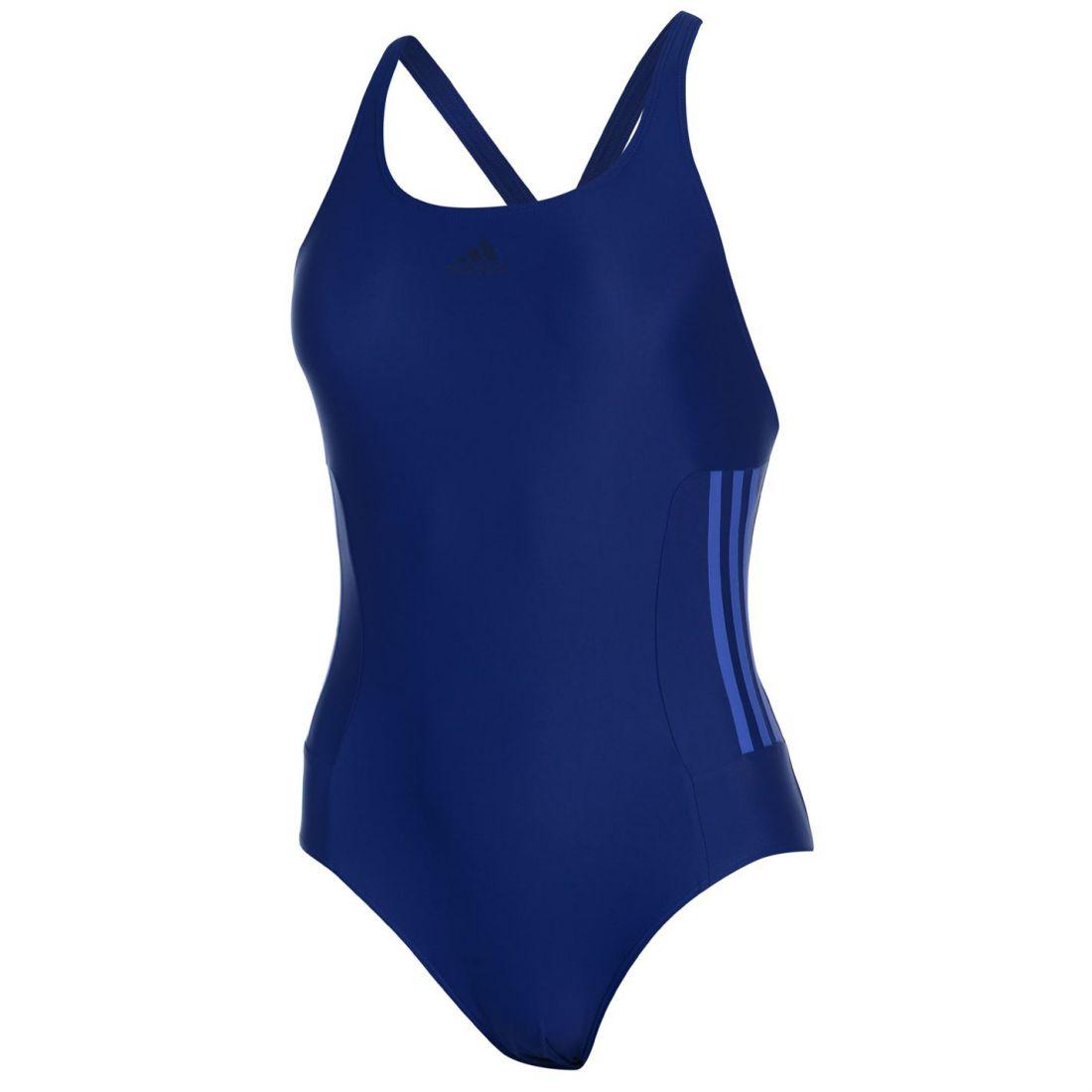 83c02cd911 adidas Womens Infinitex Fitness Eco Swimsuit Stripe Chlorine ...