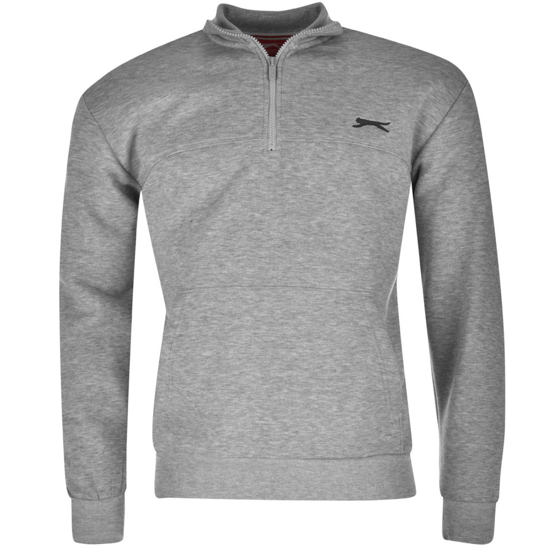 db2be941c49 SLAZENGER QUARTER ZIP Fleece Top Sweatshirt LS Mens Gents - £12.00 ...