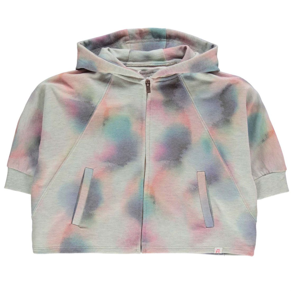 b80ec5227f7 Image is loading French-Connection-Childrens-Fded-Print-Sweater-Hoodie-Hoody -