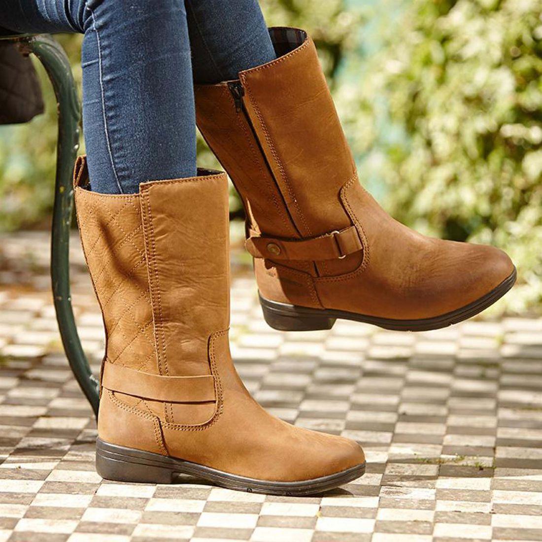 Dublin Cherwell Mid bota botas de país señoras de cremallera cremallera cremallera repelente al agua bajos Ventilado  comprar nuevo barato