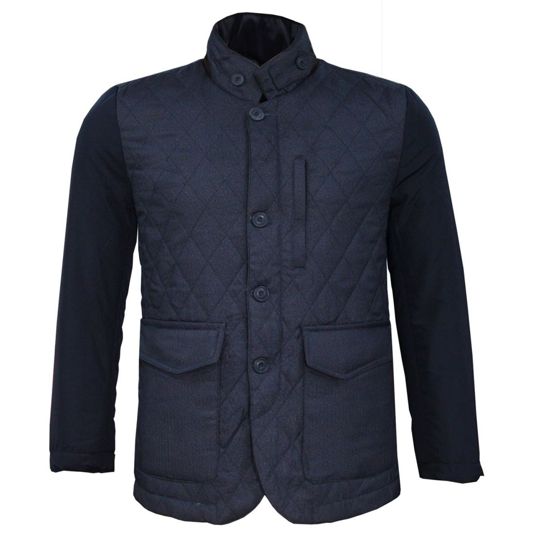 Lee Cooper KD Quilted Jacket Mens Gents Coat Top Lightweight Zip ... 2093071545