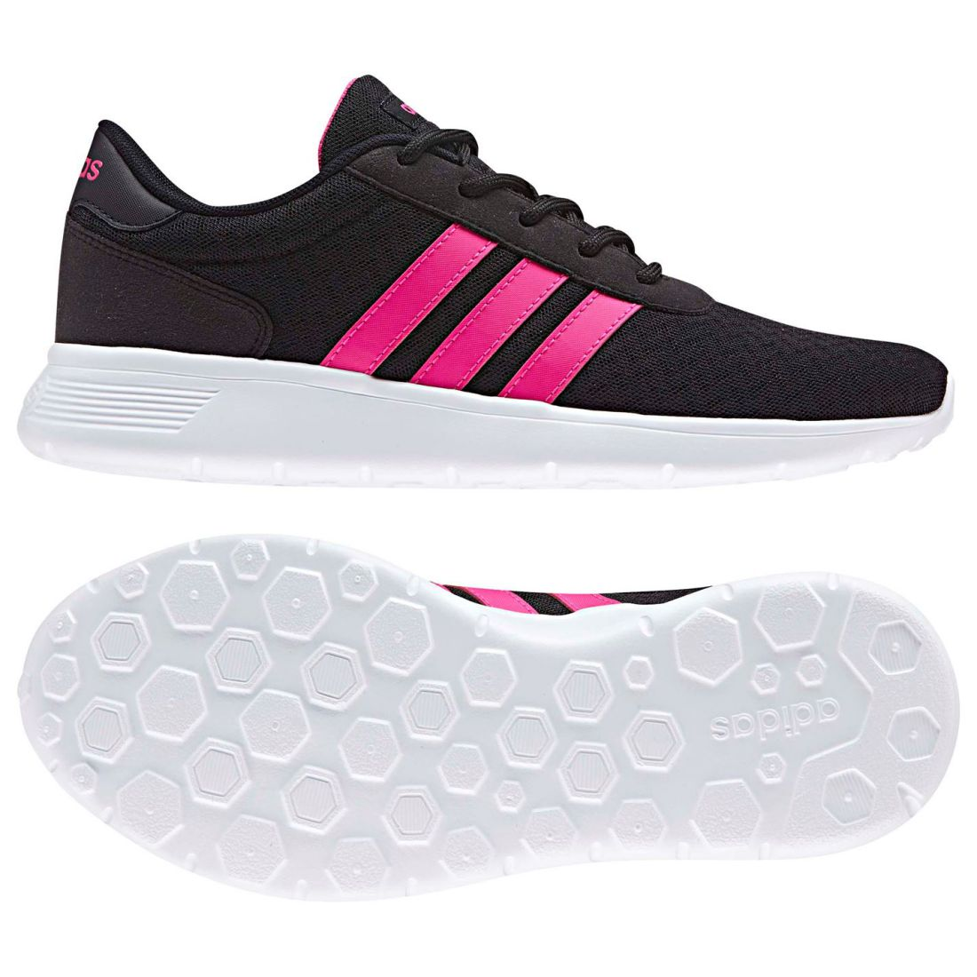 2b4b036de Details about adidas Womens Lite Racer Trainers Runners Lace Up Breathable  Suede