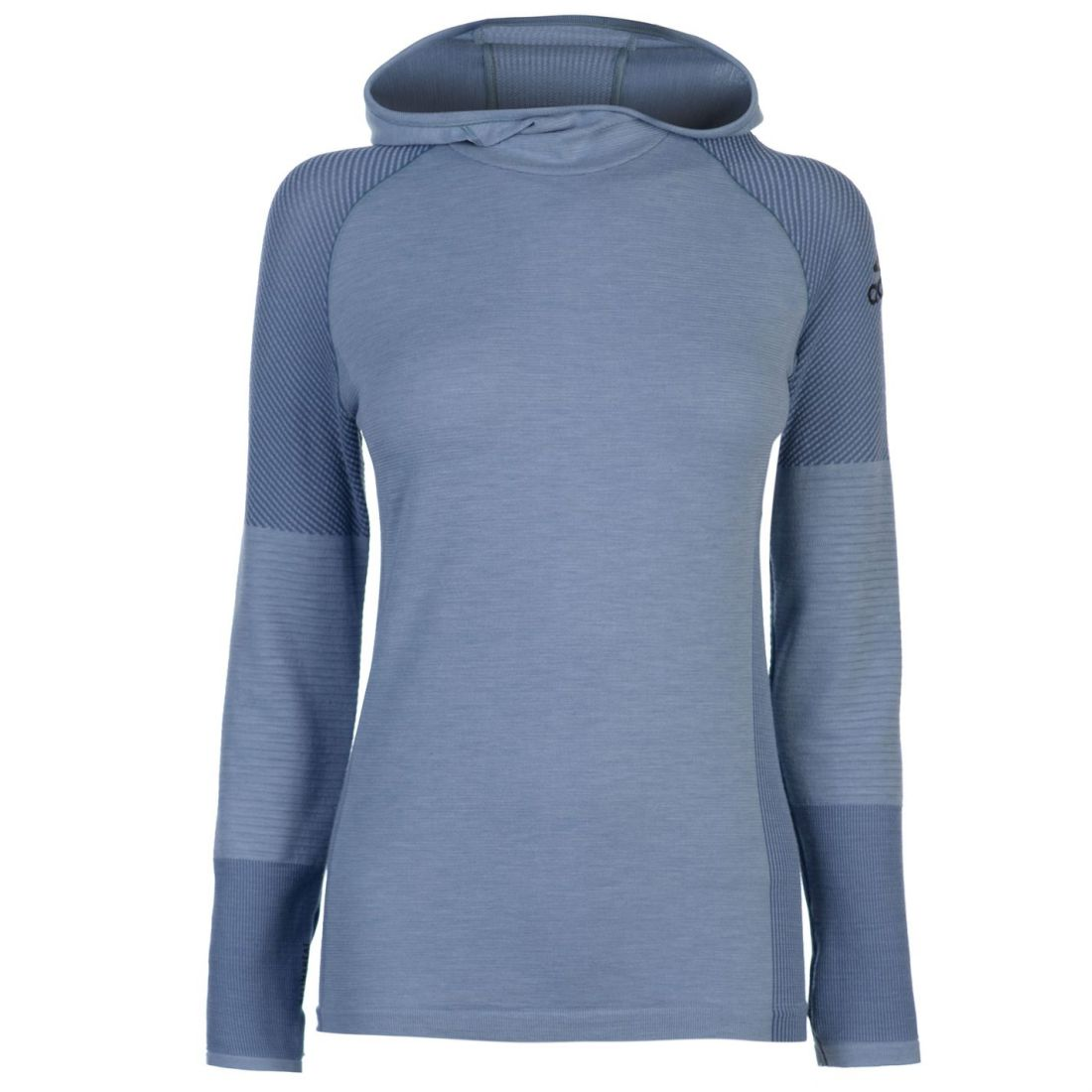 Details about adidas Womens ClimaHeat Long Sleeve Hooded Top Performance Shirt Lightweight