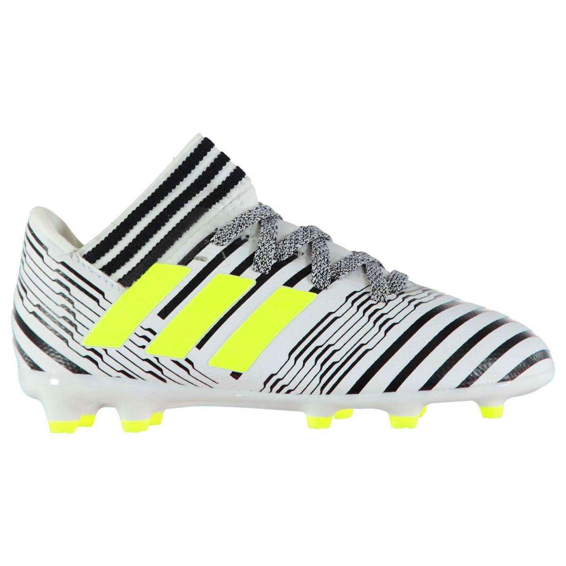 adidas Kids Boys Nemeziz 17.3 Firm Ground Football Boots Shoes Lace Up  Sports e8f8b31b8c2