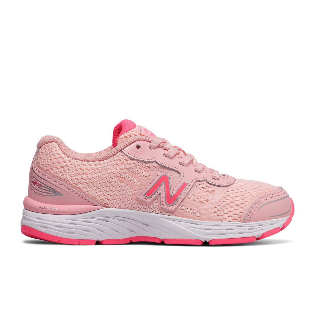 8a4d8b5c Details about New Balance Kids Girls K680v5 Trainers Junior Road Running  Shoes Lace Up Padded