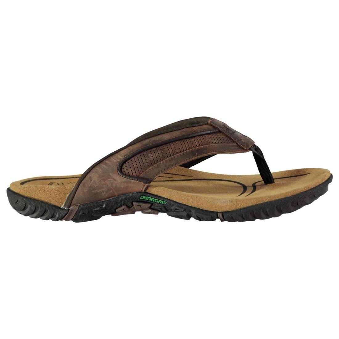de5d6e5bf5f3 Karrimor Mens Lounge Flip Flops Sandals Strap Toe Post Leather Upper ...