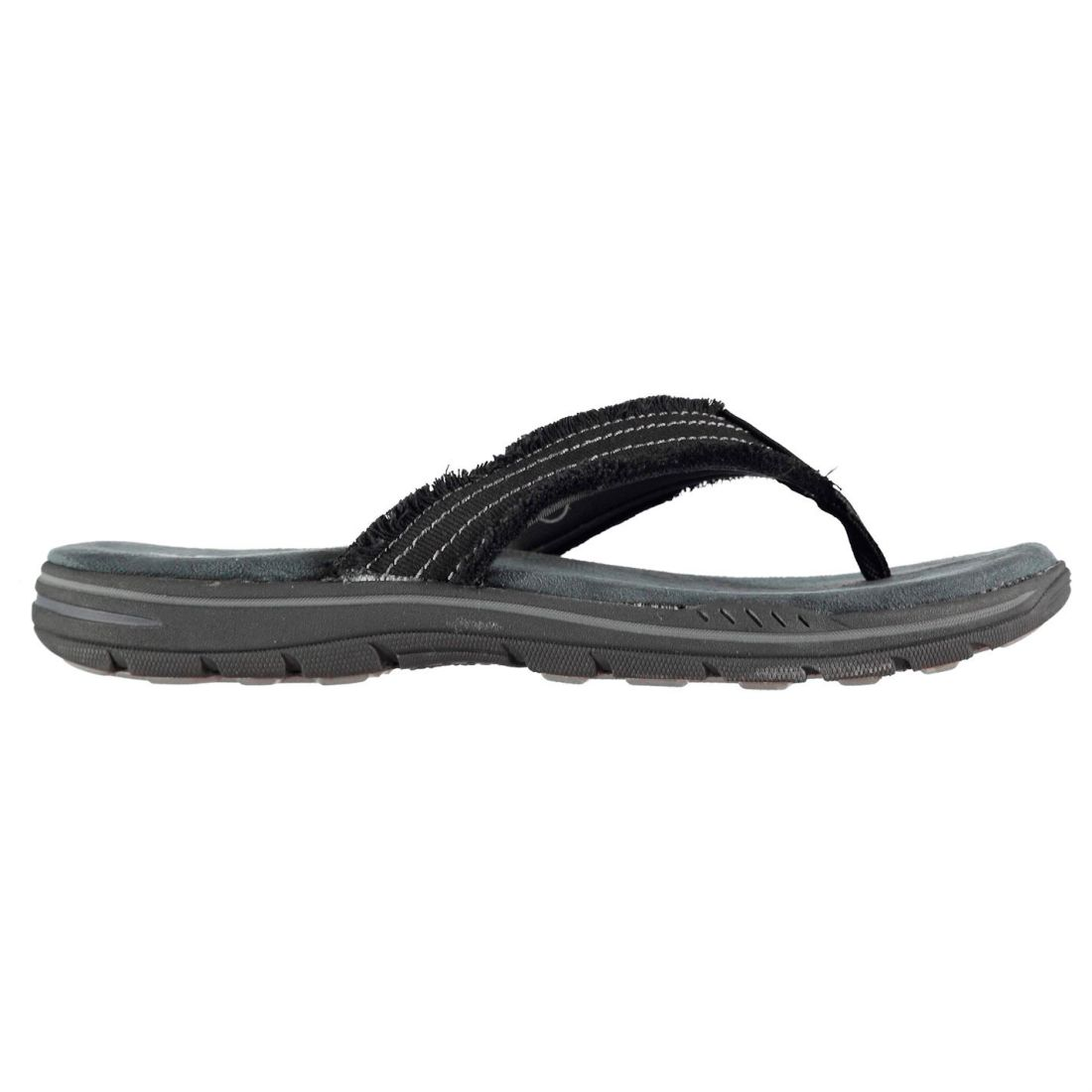 4367a2048 Skechers Even Arven Flip Flops Mens Gents Strap Toe Post Memory ...