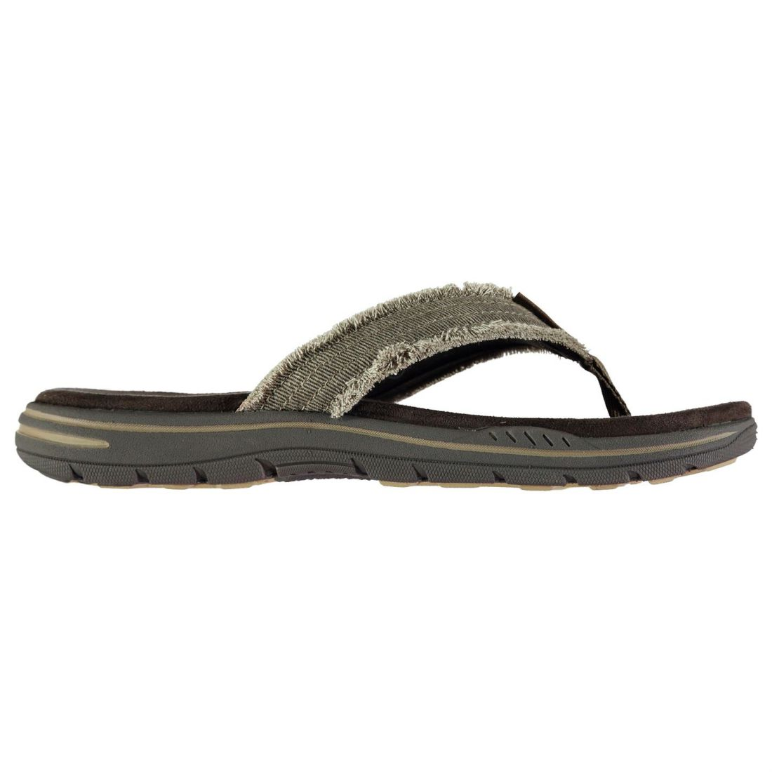 2aba23e6f Skechers Even Arven Flip Flops Mens Gents Strap Toe Post Memory Foam ...