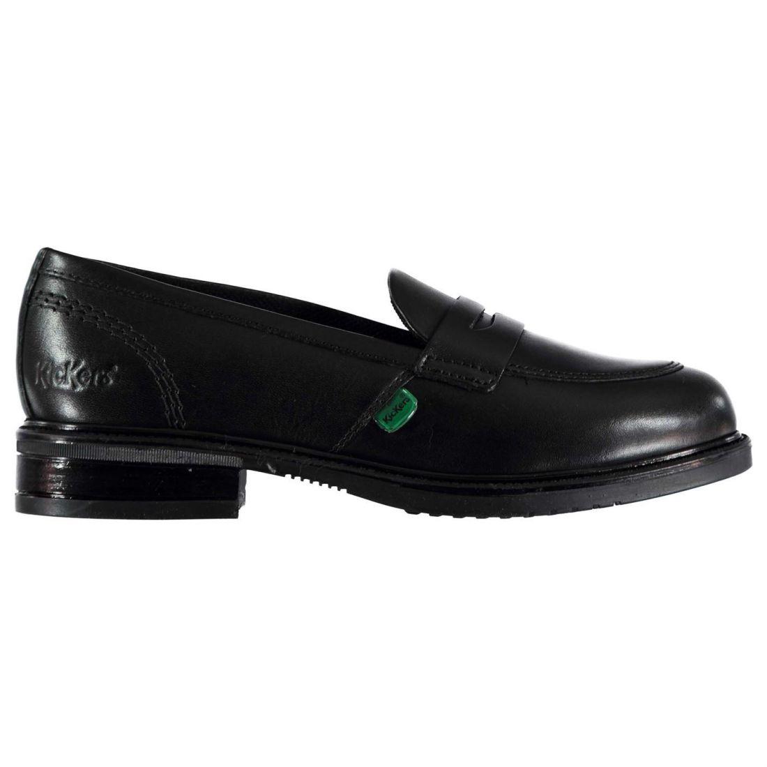 kickers girls lach loafer shoes kids slip on smart slight heel rh ebay co uk