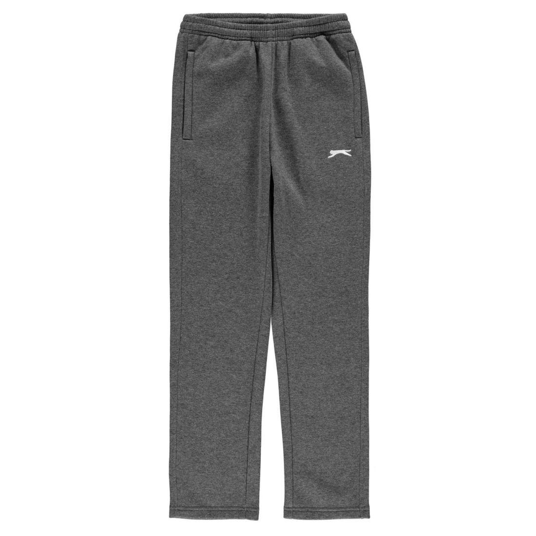 9cbcca161765 Slazenger Kids Boys Open Hem Fleece Pants Junior Jogging Bottoms Trousers