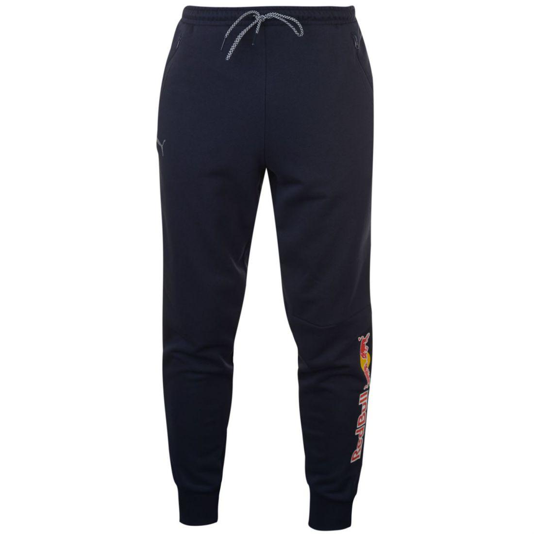 Puma Mens Red Bull Racing Closed Hem Jogging Pants Fleece ... b14b83af79