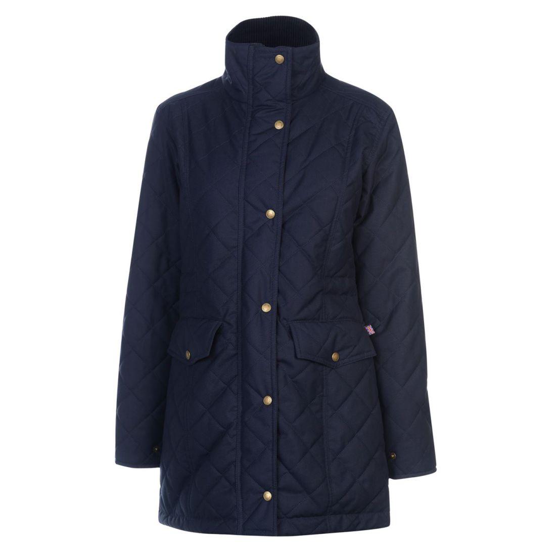 Jacket cotone Equestrian all acqua Navy in Top Tac resistente Coat Hac Zip  Ashton Warm Ladies wan8q 9fb72971695