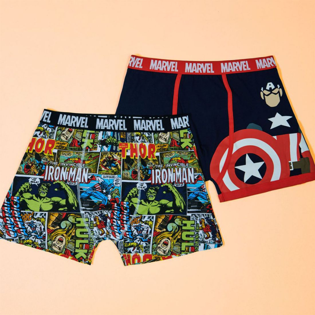 c53fa56c0 Mens Boxer Underwear Character 2 Pack Boxers Print Marvel L for sale ...