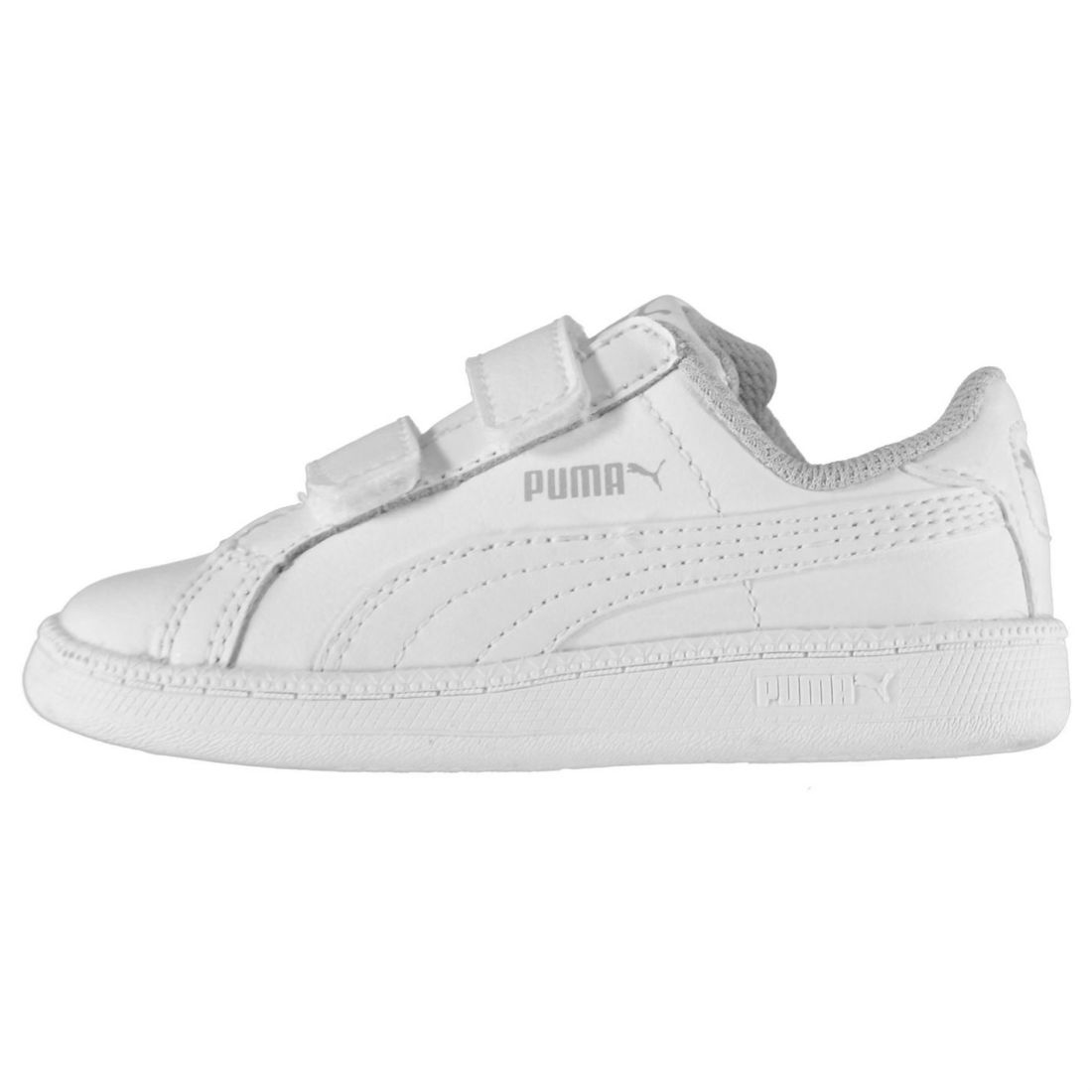 02a4df5b2dc Details about Puma Kids Smash Suede Fun Court Trainers Infant Boys Shoes  Touch and Close Strap