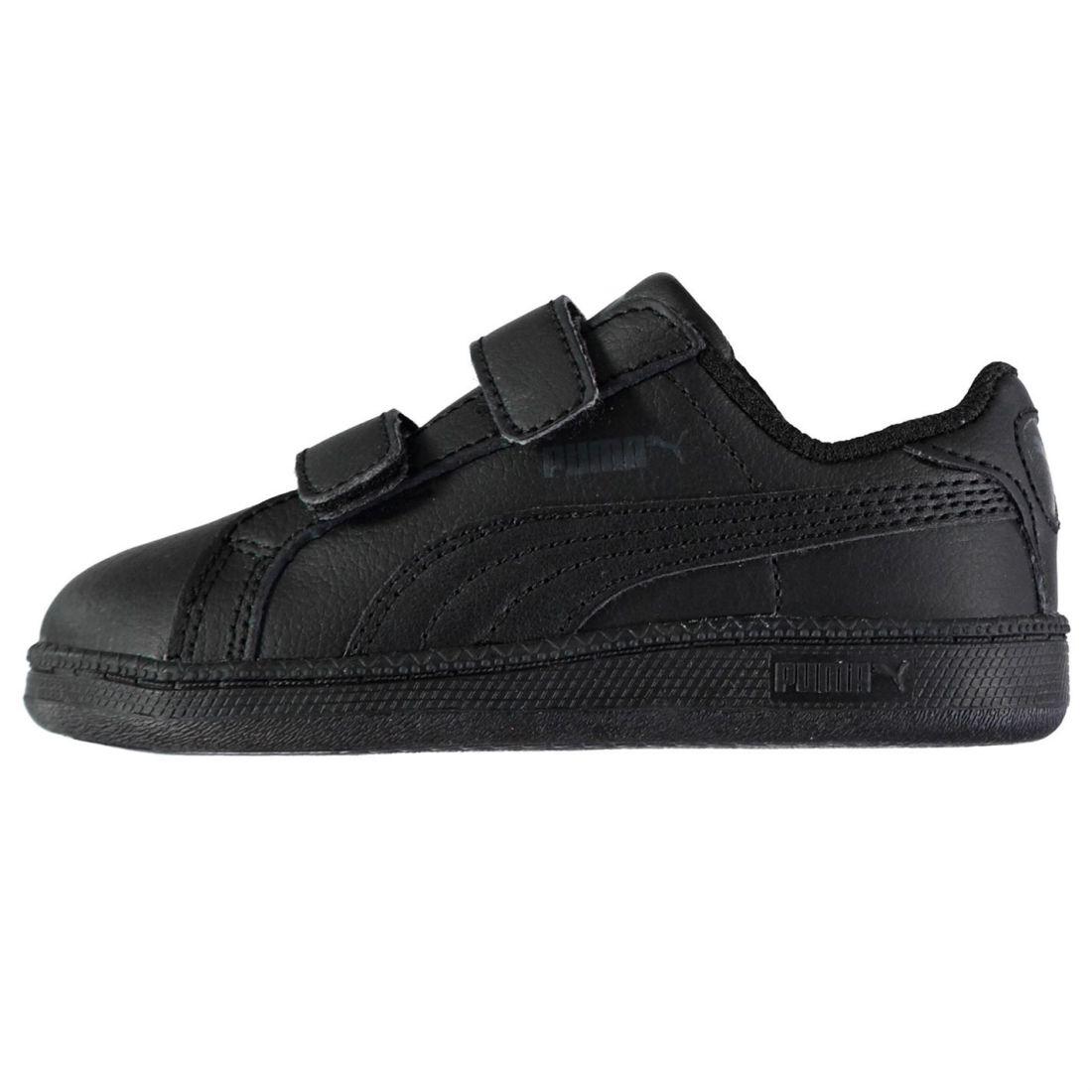 Details about Puma Kids Smash Suede Fun Court Trainers Infant Boys Shoes  Touch and Close Strap 5d0c24d101b10