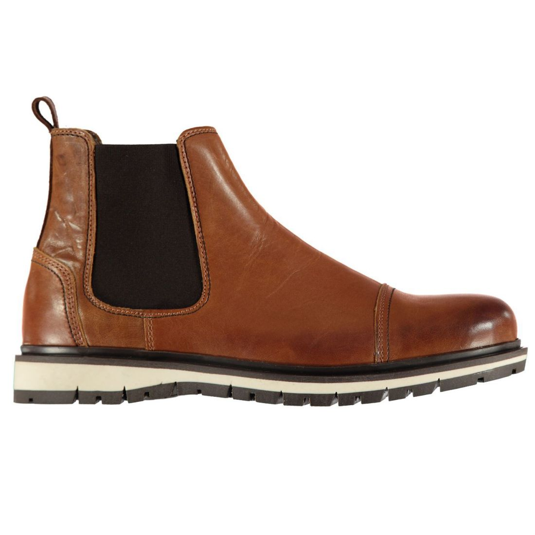 Mens Tan Everyday Textured Gents Kipp Firetrap Chelsea Boots qEwOgCO
